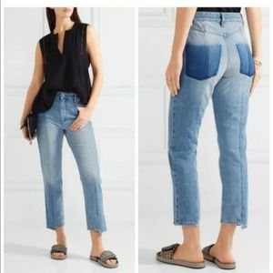 Isabel Marant Etoile Clancy Mixed Denim Jeans 38